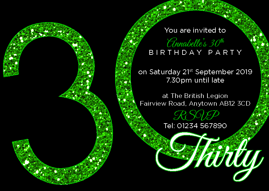 30th birthday party premium invite 24 a6 invitation pack ebay