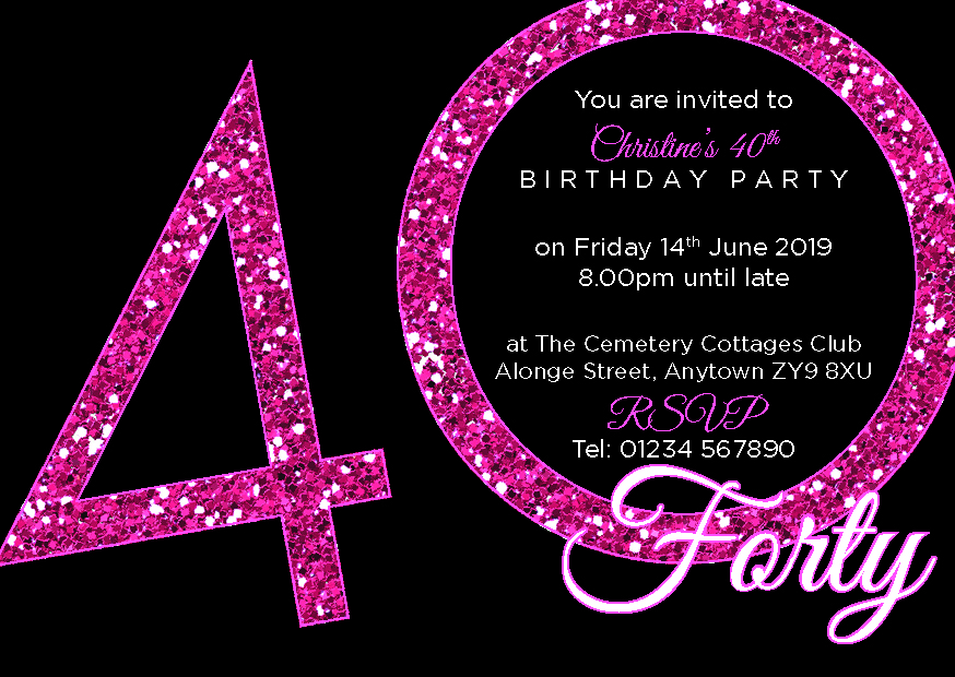 40th Birthday Party Premium Invite