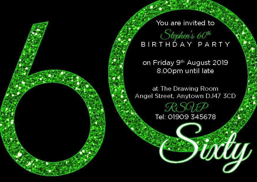 60th birthday party premium invite 24 a6 invitation pack ebay