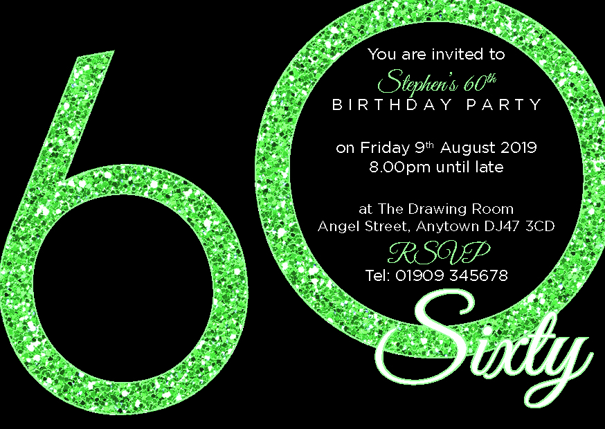 60th Birthday Party Premium Invite
