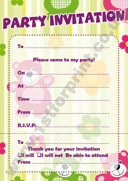 20 blank childrens kids birthday party invitations packs for boys